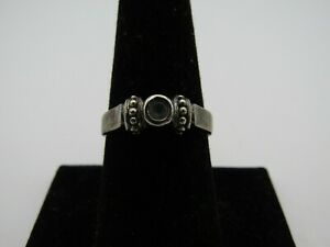 SIMPLE STERLING SILVER RING w/ MOONSTONE? SIZE 8 .925