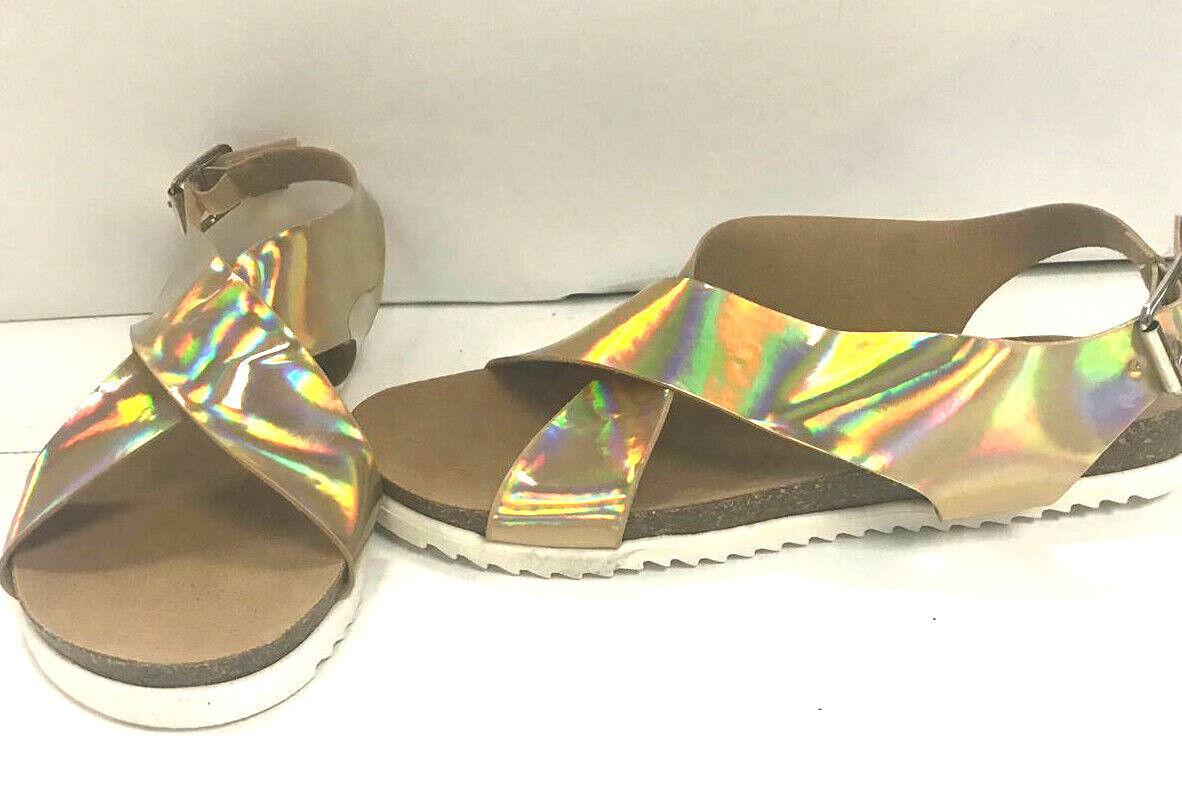 Forever Women's Sandals, Regal 04, gold, US 6.5