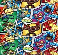 Camelot Skylanders Characters 100% Cotton Fabric By The Yard