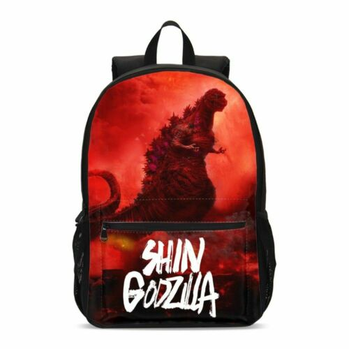 Godzilla Kids Schoolbag Set Boys Large Backpack Insulated Lunch Bag Pen Bags LOT