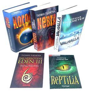 THOMAS-THIEMEYER-Korona-Das-verbotene-Eden-3-Nebra-Valhalla-Reptilia-5x-Buch