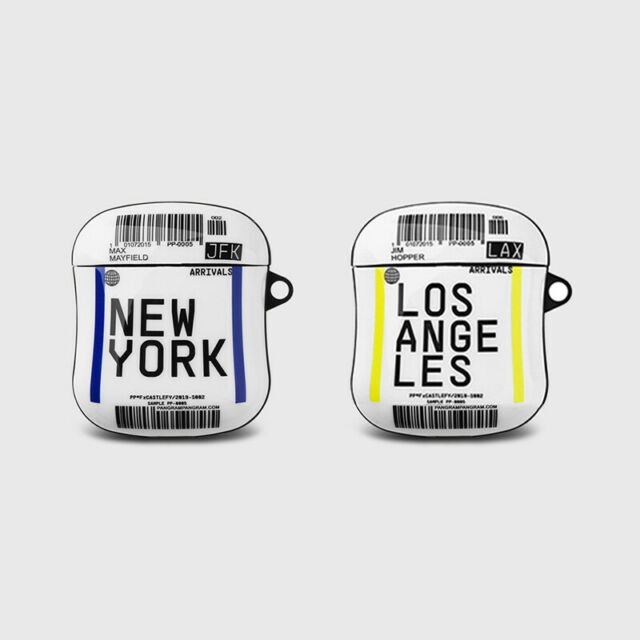 Air Ticket LOS ANGELES NEW YORK TPU Soft Cover Case For