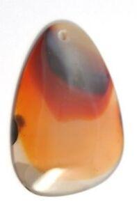 1-Grande-Natural-Beige-Blanco-Marron-Naranja-Agata-Colgante-Lagrima-Focal