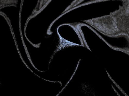 Fabulous DESIGNER VERY DARK NAVY Crepe backed Charmeuse SATIN Solid Fabric