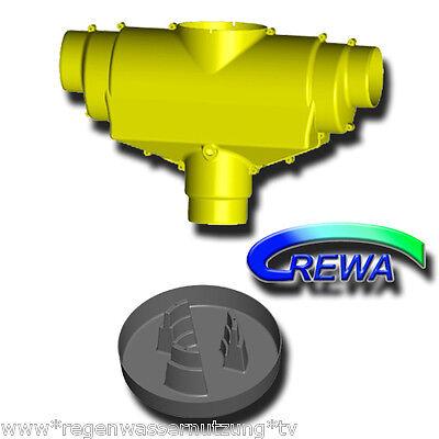 Luminosa Filtro Acqua Piovana F100xl Con 2x Acciaio Inossidabile Fissione Setaccio Pentola Di Mandata, Skimmer + R-ugello-ter F100xl Mit 2x Edelstahlspaltsieb Zulauftopf, Skimmer + R-düse It-it