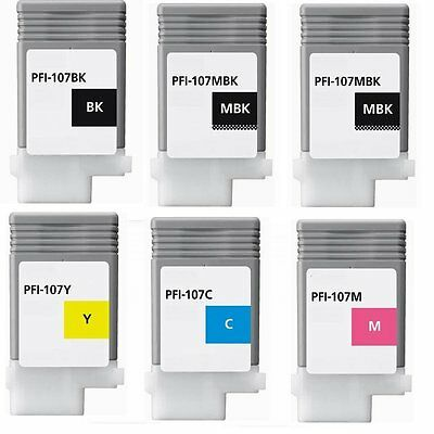 5 Pfi-107 ink cartridge fit Canon imagePROGRAF 670 680 685 770 780 785