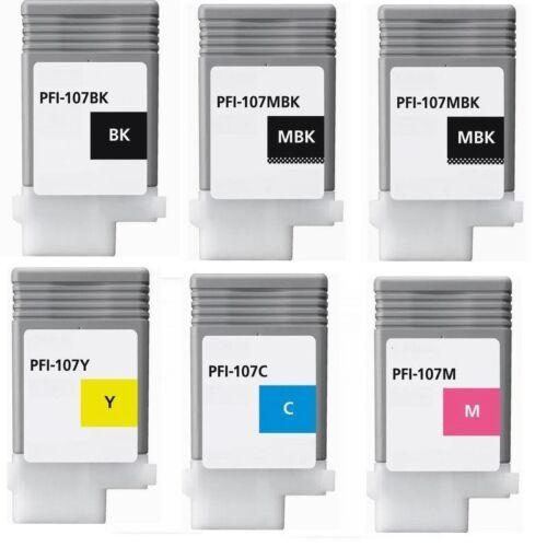 6pks Pfi-107 ink cartridge fit Canon ipf 670 680 685 770 780 785 pfi 107