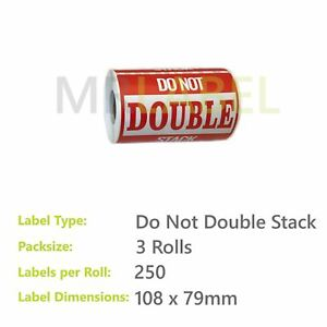 Pack of 3 - Do Not Double Stack