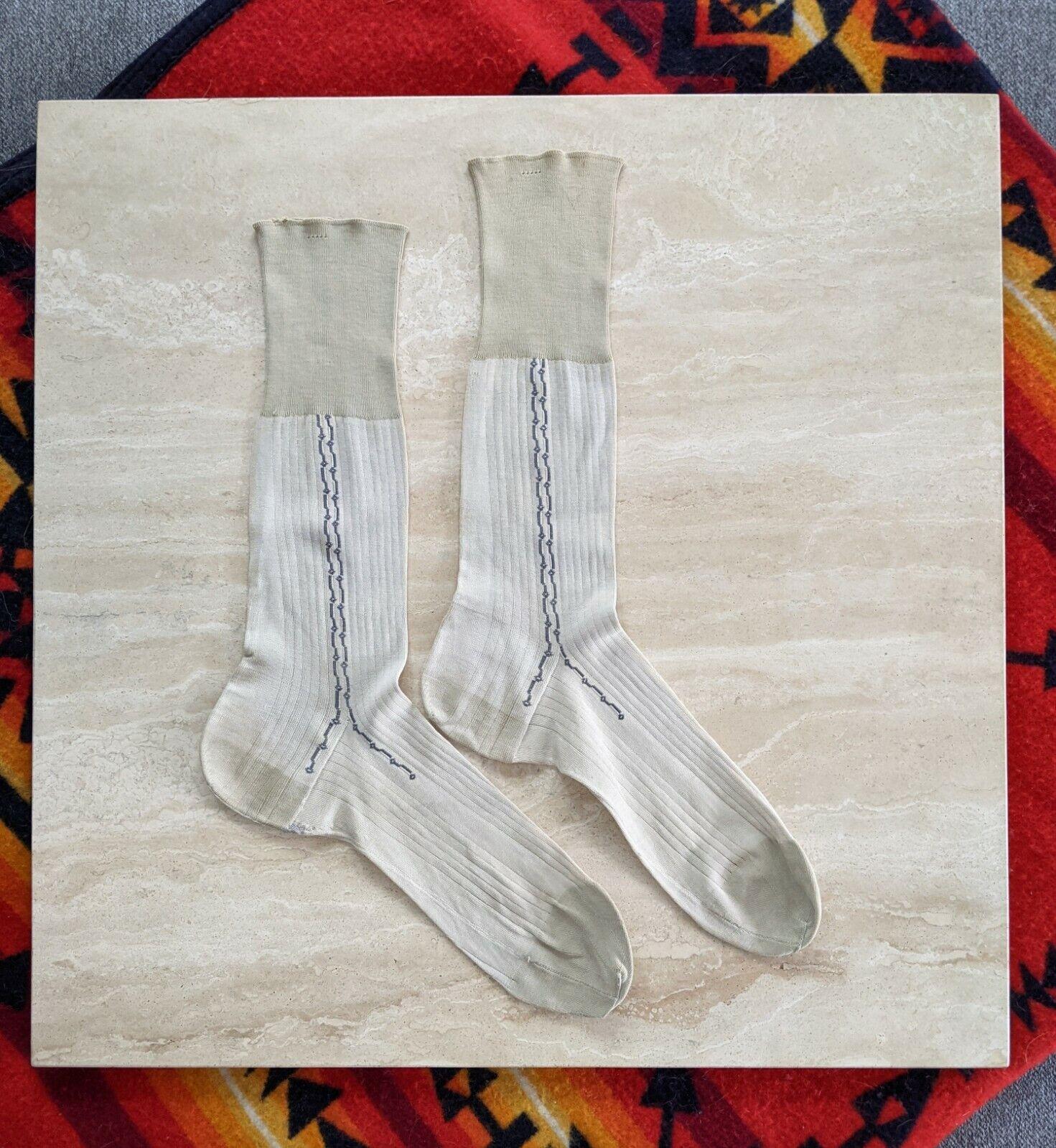 Antique Men's Socks Edwardian 1910s 1920s Vintage… - image 2
