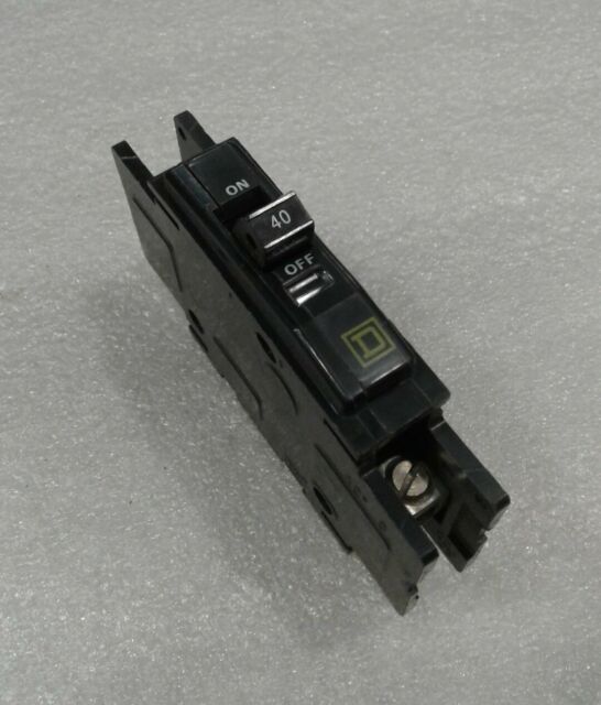 40A 1 Pole QOU140 ONE Piece SQUARE D 120//240 V Circuit Breaker