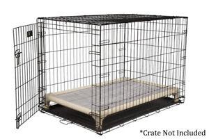 Hunter Green Open Weave Fabric Kuranda Indoor//Outdoor Dog Bed Almond Frame