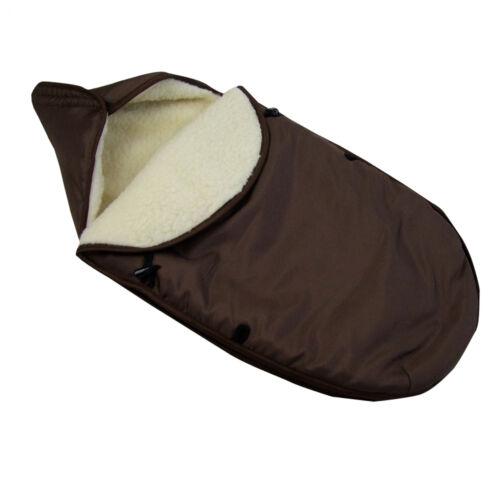 Bambiniwelt saco para los pies saco para pies universal para capazo grupo 0 lana uni