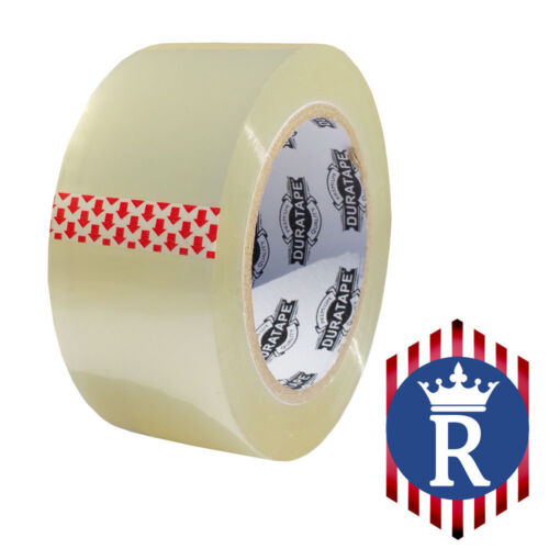 """2/"""" X 110 YD CLEAR CARTON SEALING BOX TAPE 2.3mil Ships Today"""
