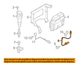 image is loading hyundai-oem-veloster-engine -crankshaft-crank-position-sensor-