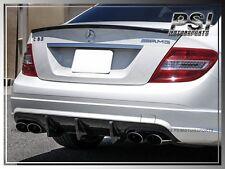 Carbon Fiber Big Fins Style W204 2008-2011 4Dr C63AMG Rear Bumper Diffuser