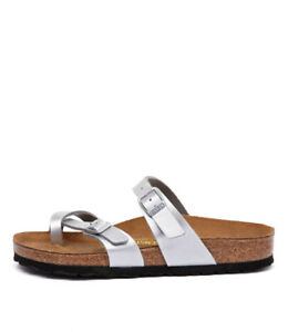 Details about New Birkenstock Mayari Silver Womens Shoes Casual Sandals Sandals Flat