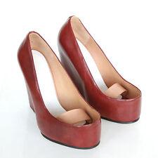 Maison Martin Margiela Avant Garde Shoes Open Top Wedge High Heel Sandals 36