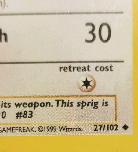 Trading Card Pokemon Farfetch/'d 27//102