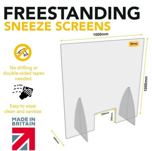 Large Sneeze Cough Guard Cashier Protection Great for Virus Protection Counter