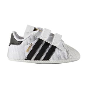 114e8841bbefb Scarpe sportive bambini neonati ADIDAS Superstar crib bianco e nero ...