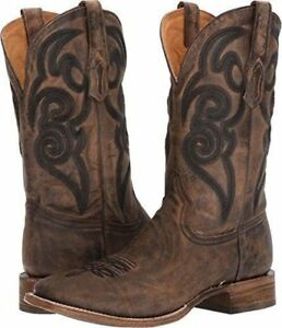 df54741ee98 Details about CORRAL Men's Brown Embroidery Square Toe Cowboy Boots A3303  With Comfort System