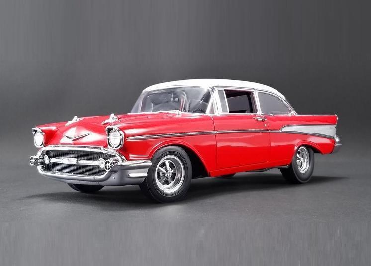 marca de lujo Acme 1 18 1957 Chevrolet Bel Air Street Tira Tira Tira Rojo con Tapa blancoa Modelo A1807005  hasta 60% de descuento
