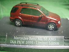 Busch Mercedes Benz ML 55 AMG IAA 1999 im Schaukasten  aus Sammlungsauflösung