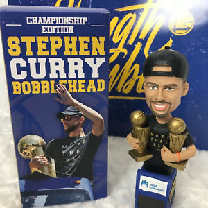 New-GS-Warriors-Stephen-Curry-Championship-Edition-bobblehead-NIB-2x-MVP-on-bus