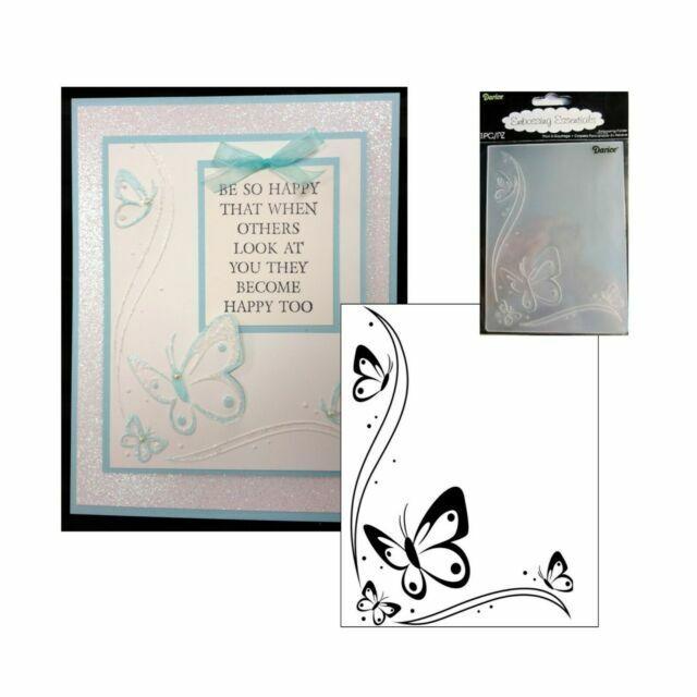 Elizabeth Craft Designs Embossing Folder 4 by 6-Inch Butterflies