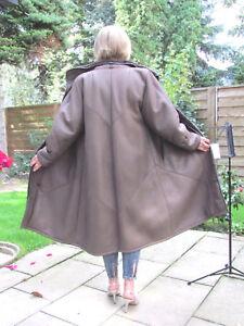WOMENS-XXL-2XL-Shearling-Lambskin-Sheepskin-Baby-Lamb-Coat-Jacket-Ladies-D4211