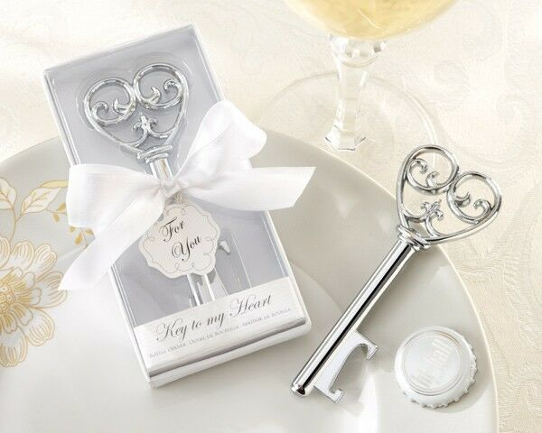 50 Key To My Heart Bottle Opener Victorian Style Wedding favors Bridal Shower