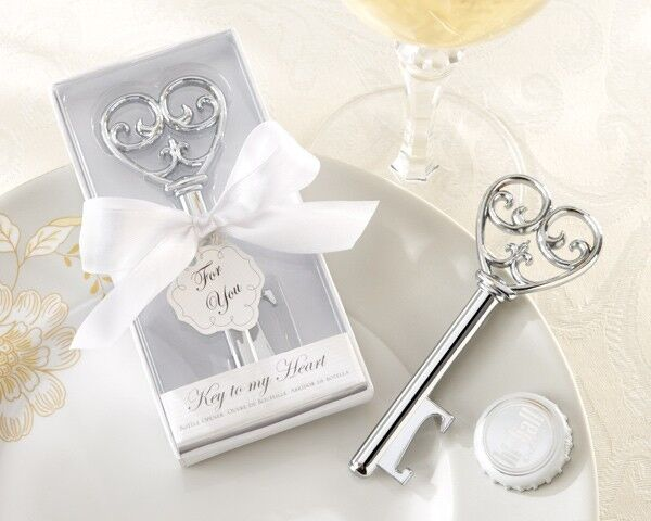 24 Key To My Heart Bottle Opener Wedding favors Bridal Shower Favor