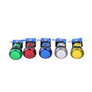 Details About 1pc Round Lit Illuminated Arcade Video Game Push Button Switch Led Light Lamp Yf