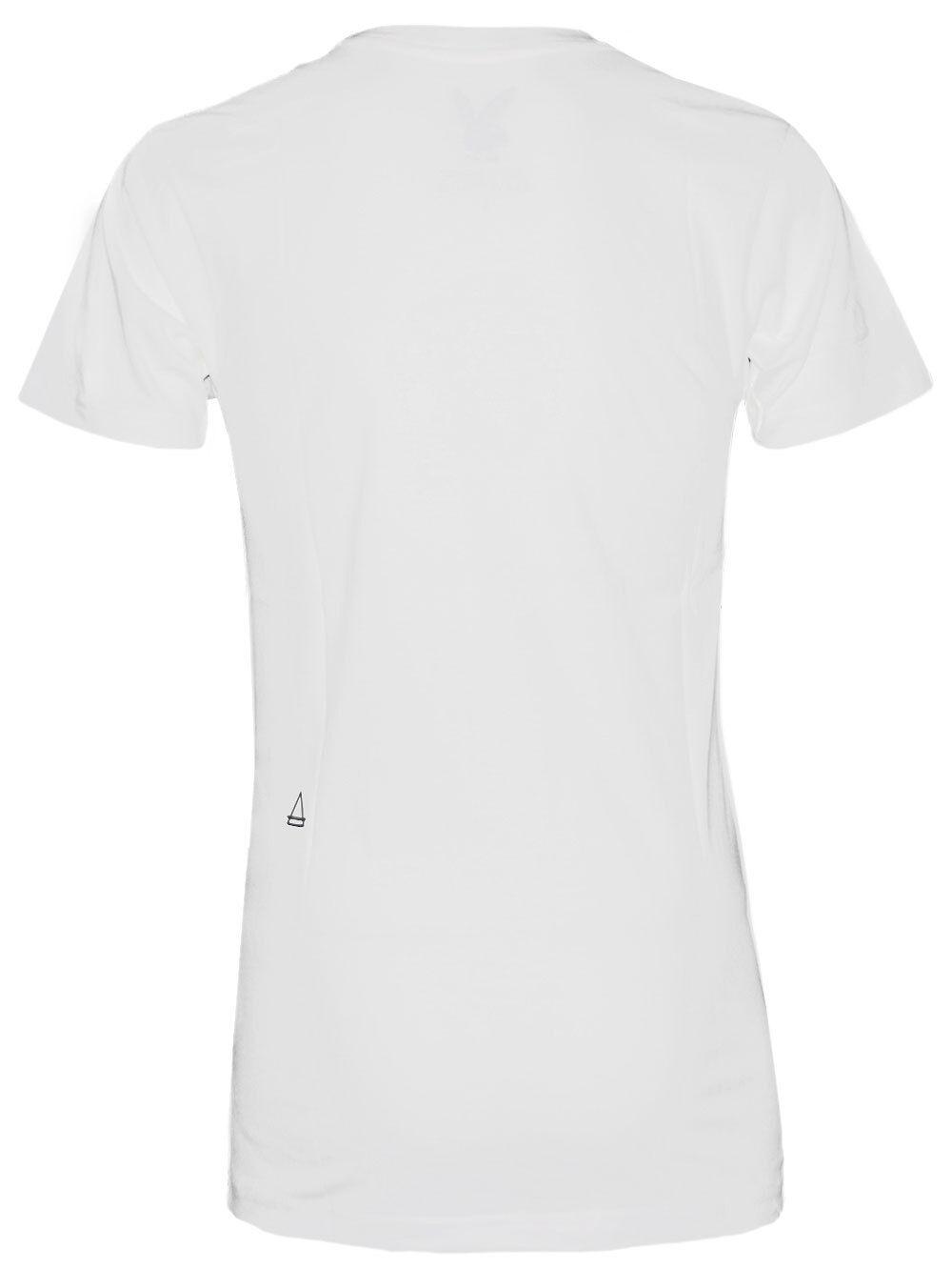 Undici Parigi Top Uomo Vneck T-Shirt Pb Church Bianco Bianco Bianco Nuovo + Conf. Orig. a03622