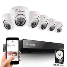8CH CCTV DVR Home Indoor 900TVL Camera Video Recorder Security System + 500G HDD
