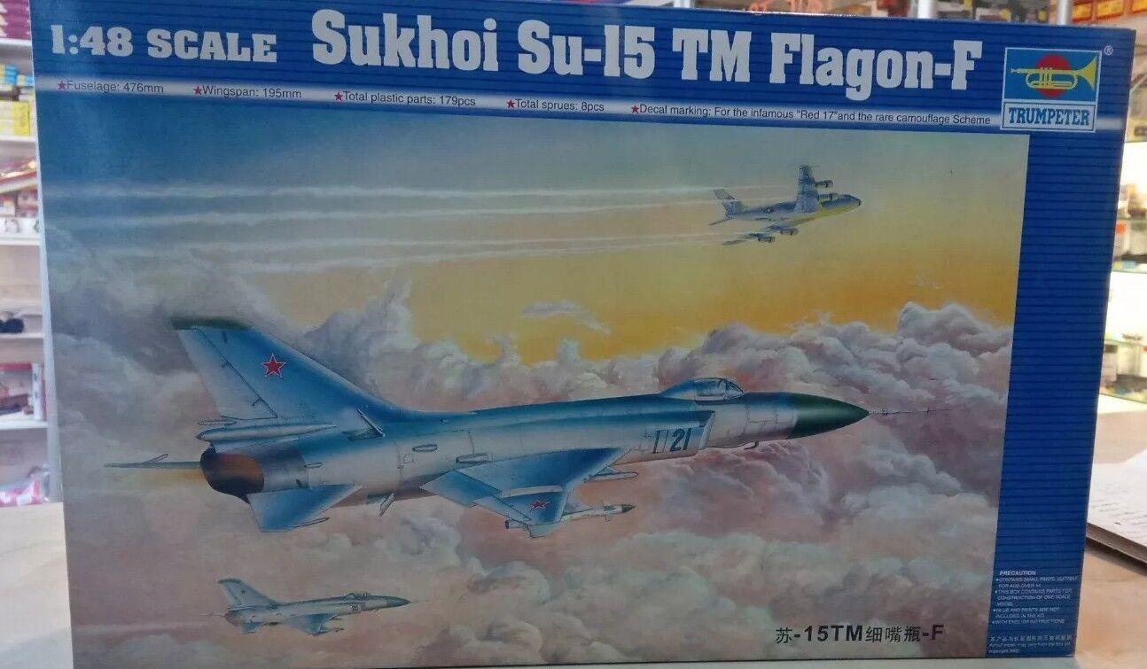 Trumpeter 02811 Sukhoi Su-15 Falgon-f MODEL KIT 1 48 SCALE, NEW