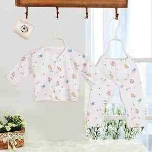 2pcs Newborn Baby Clothing 0 3 Month Girl Cotton Cartoon Gowns