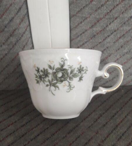 Seltmann Weiden Vienne verte rose tasse à café Maison de campagne