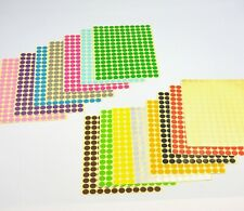 10mm Coloured Dot Stickers Round Sticky Dots Adhesive Circles Labels 16 Colours