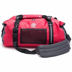 Aqua Quest White Water 50L Waterproof Duffel  Sports Travel Gym Dry Bag -  Red