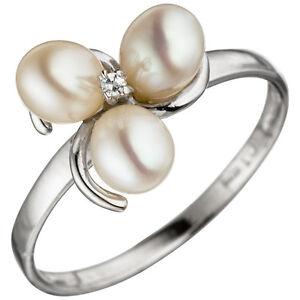 ANNEAU-femmes-taille-52-argent-925-3-perles-d-039-eau-douce-1-ZIRCON-DE-527