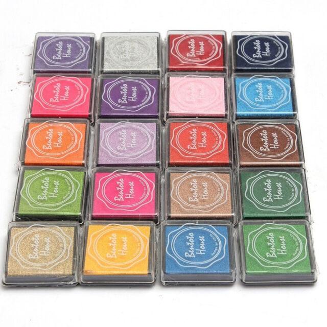 20Pc DIY  Candy Color Finger Print Ink Pad Kids Fashion  for Rubber Stamp LJ