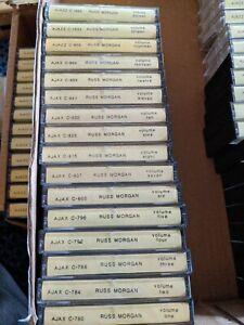 16 Russ Morgan CASSETTE TAPE LOT SET 1-16 AJAX AJAZZ RARE RECORDINGS big band