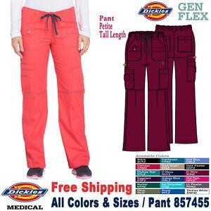 Dickies Scrubs GEN FLEX Women/'s Medical Cargo Pant/_857455/_Petite//Tall