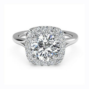 1.05 Ct Certified Moissanite Anniversary Ring 18K Solid White Gold ring Size 9.5