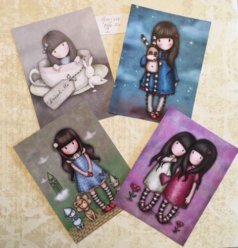 card toppers Craft clearout mix paper  Santoro's Gorjuss X4 HighGloss Mix 1