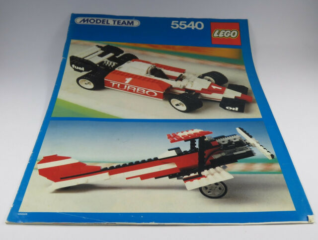 Lego Race Car F1 Model Team 5540 Very Rare Set Complete With