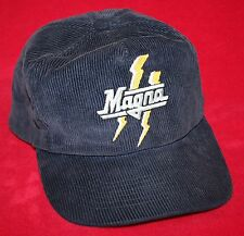 Vintage MAGNA CIGARETTES Corduroy Snapback HAT / CAP Adult Advertising Smoking