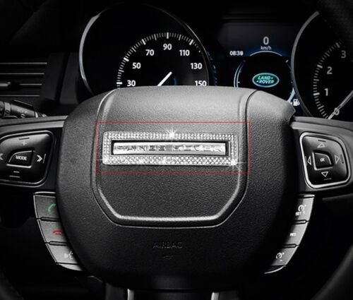 Crystal Steering Wheel Central Logo Cover Trim fit for Range Rover Evoque 12-18