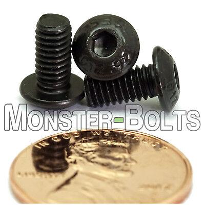 M6-1.0 x 45mm Button Head Socket Caps Screws 12.9 Alloy Steel Blk Ox ISO 7380